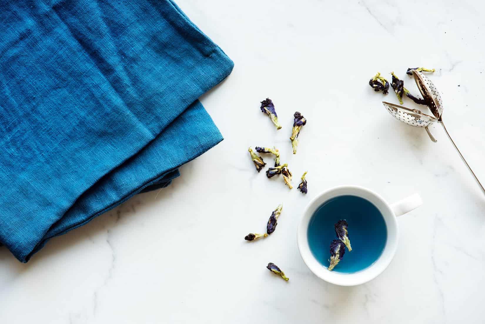 green oolong tea on a marble table