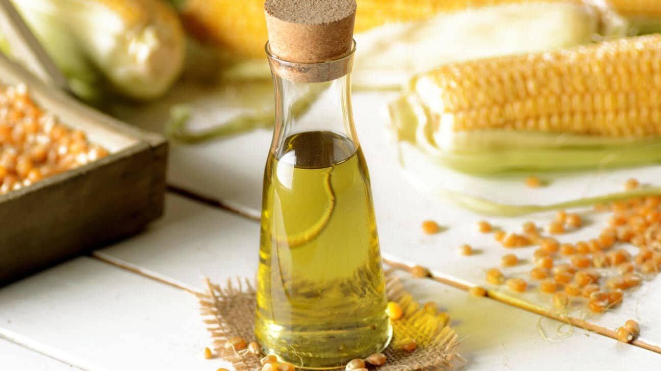 corn oil in a bottle