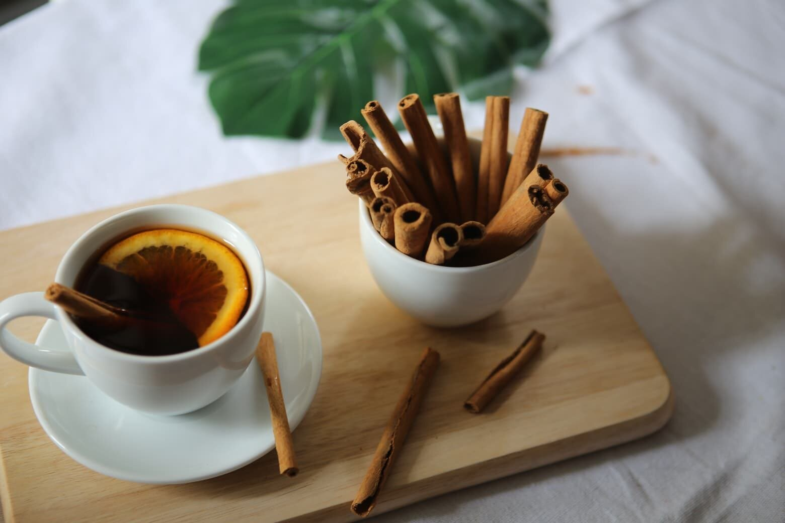 cinnamon sticks with tea