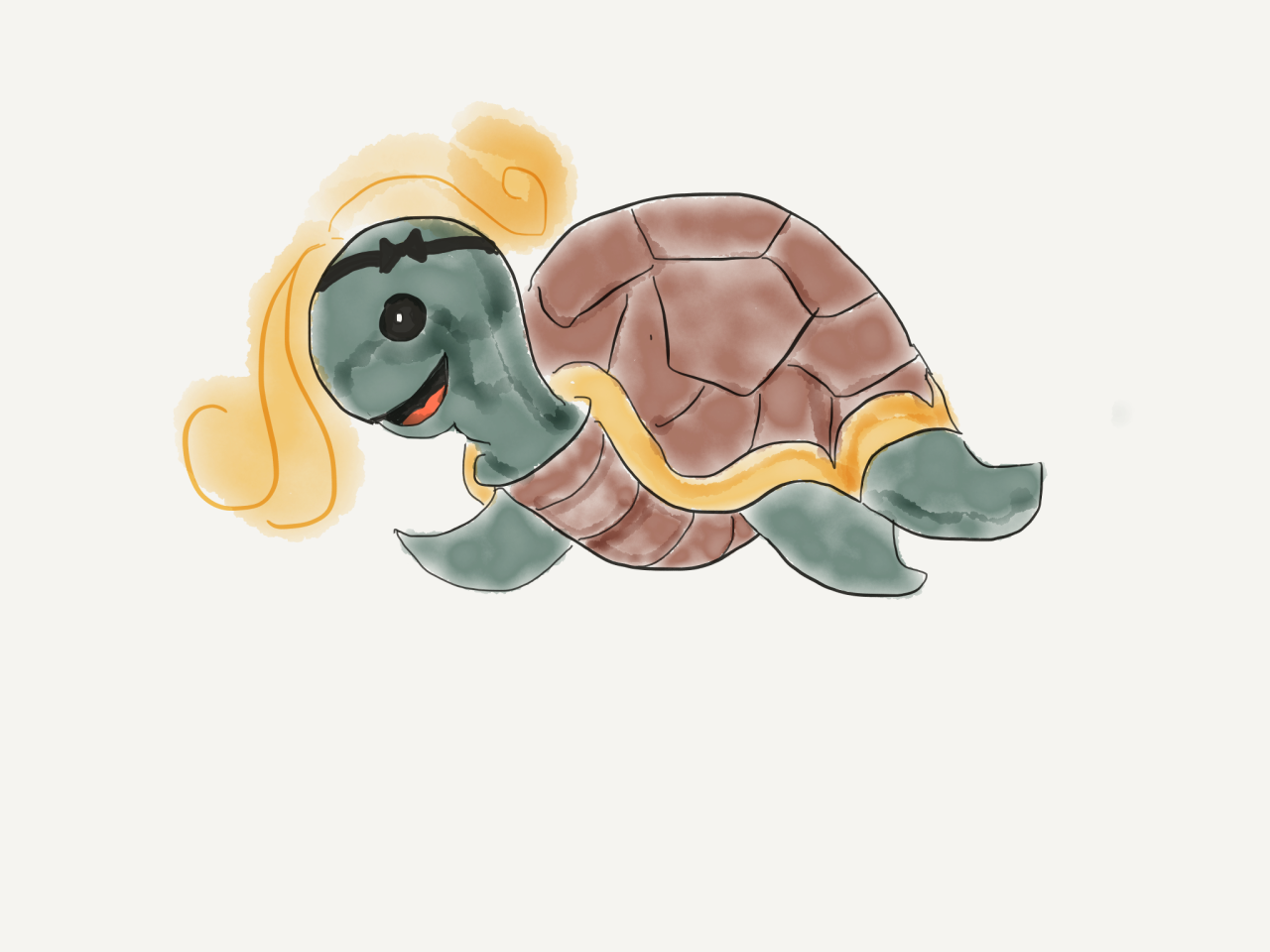 Lisa, the turtle with a blowout and a headband. Did we really talk about that in ep 121? I fear we did.