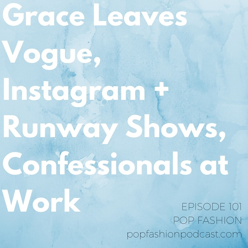 """Episode 101!  Grace Leaves  @vogue ,  @instagram  + Runway Shows, Confessionals at Work  This week we investigate a  dockworker strike .  Grace Coddington  stepped down from Vogue - is it a turning point for Conde Nast? Lisa presents her report on cosmetic recycling options,  Demi Lovato  launches a beauty line with items under $5, and Tommy Hilfiger introduces an  """"InstaPit""""  to the runway experience. Our main topic of the week is the workplace confessional. Does being transparent mean you have to be completely open about your entire life? How do the economics of the  personal essay industry  fit into the way we think about workplace relationships?       Listen up!"""