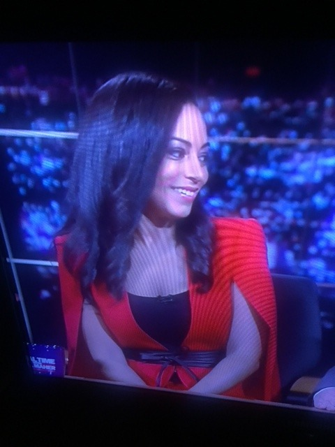 Thank you to the dear listener who snapped evidence of Angela Rye's jacket-cape goodness on Bill Maher.