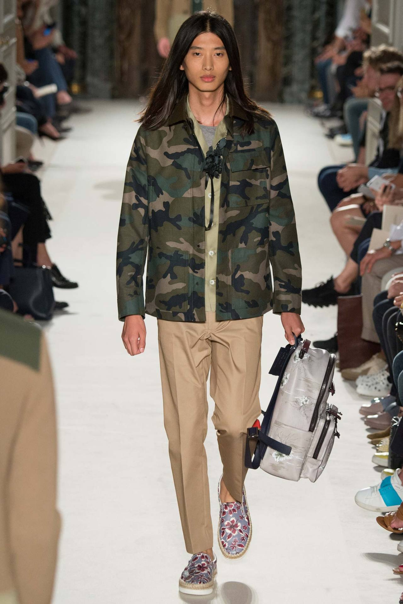 The Valentino Men's Spring 2016 show had plenty of camo, just in time for the  Army's big announcement .