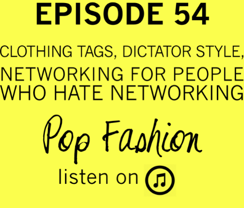 Episode 54 : The one where we seriously debated talking about North Korea before we actually did it.  This week in hot topics - an Indonesian football team has sexist tags in their jerseys, a Vogue staffer gets in hot water over an Instagram photo, and American Apparel has a conundrum involving free speech and labor rights. (Sheesh!) In other news, Lisa will tell you how to buy a wardrobe that looks exactly the one worn by your favorite television character (i.e. Claire Underwood in House of Cards). Also, Kim Jong Un has a new haircut and we might have an opinion about it. (Surprised?) Our main topic is about networking. Hate networking? That's okay, we do too. We will tell you some hints, tips, and lessons we have learned in the wild, wild world of meeting strangers for business purposes.