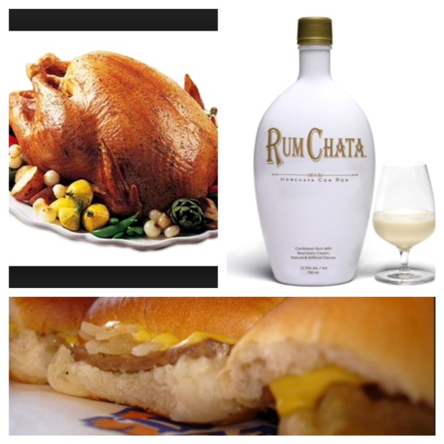 Kaarin has created a visual representation of my Thanksgiving celebration. Episode 40 will have all the details and explain how burgers were involved.    Images:  Turkey  |  RumChata  |  White Castle