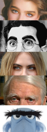 Brooke  &  Groucho  &  Cara  &  Andy  &  Sam    In upcoming episode 37 of Pop Fashion, we have a long talk about eyebrows. Specifically, the  booming brow-grooming industry .   In celebration, here are a few of our favorite notable brows.