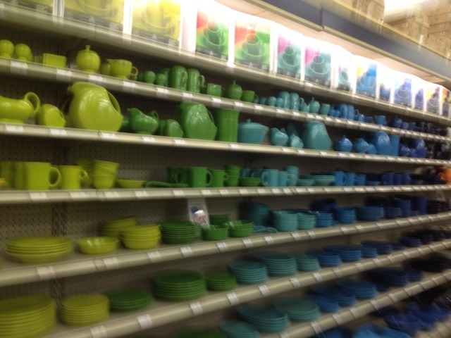 Fiesta Ware photo sent in by a listener. Look at those great colors!