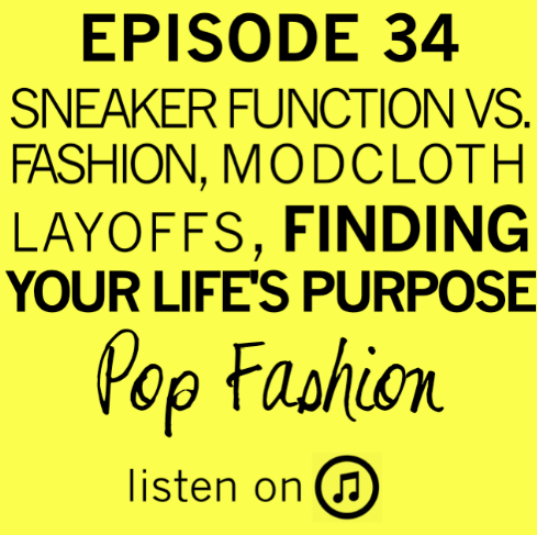 """EPISODE 34 .     Alexander Wang's new line for H&M is really cool (but it does sport some…..interesting designs), ModCloth is going through a series of layoffs, Black Friday might become a thing of the past, and Fiesta dishes are cooler now than ever before. In other news, is spending $150 on a t-shirt worth it? Also, there is a bit of hope on the child labor front. Our main topic is about finding your life's purpose. Lisa and Kaarin go through seven unusual questions that might point the way to a larger calling.      And stick around for the """"bonus"""" content!"""