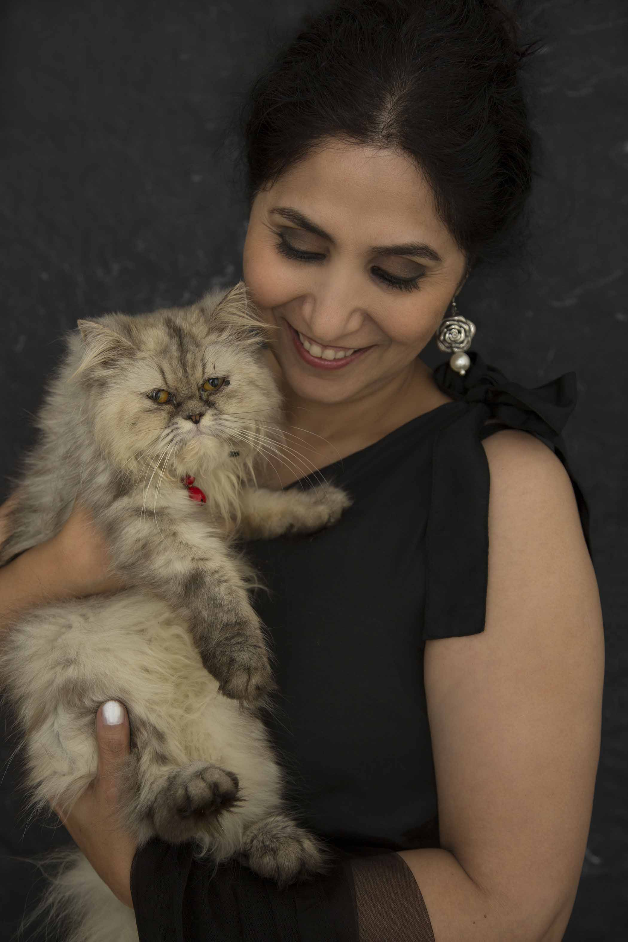Chandni Jaffri - This has been one of my most memorable experiences and MJs first outing as a model cat.....Thank you for hosting us & clicking such honest soulful pictures. As they say