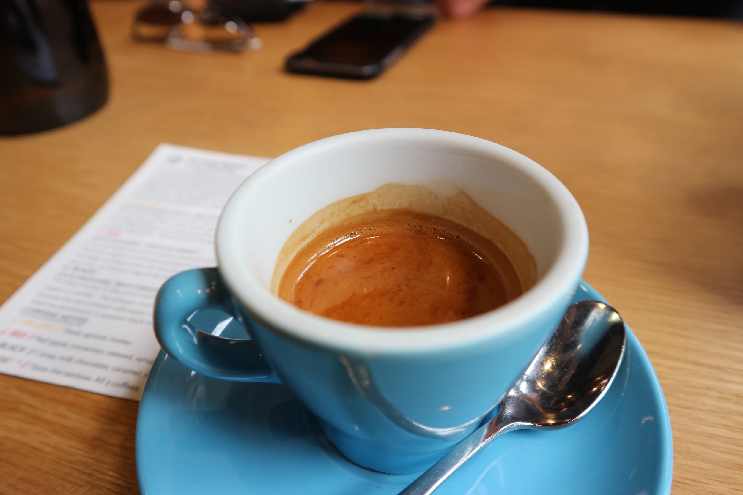 Espresso (RED) - Boasts stewed fruit, red apple, jam, and cinnamon.