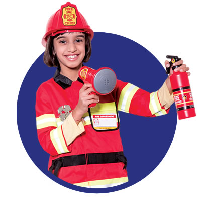 FIRE STATION   The heat is on - Firefighters wanted! Enrol at the fire station, put on your uniform and learn about fire safety. Ride the fire engine, rescue those inside and put out the flames using virtual reality. Smell the smoke, see the projected fire and hear the roar of the flames.