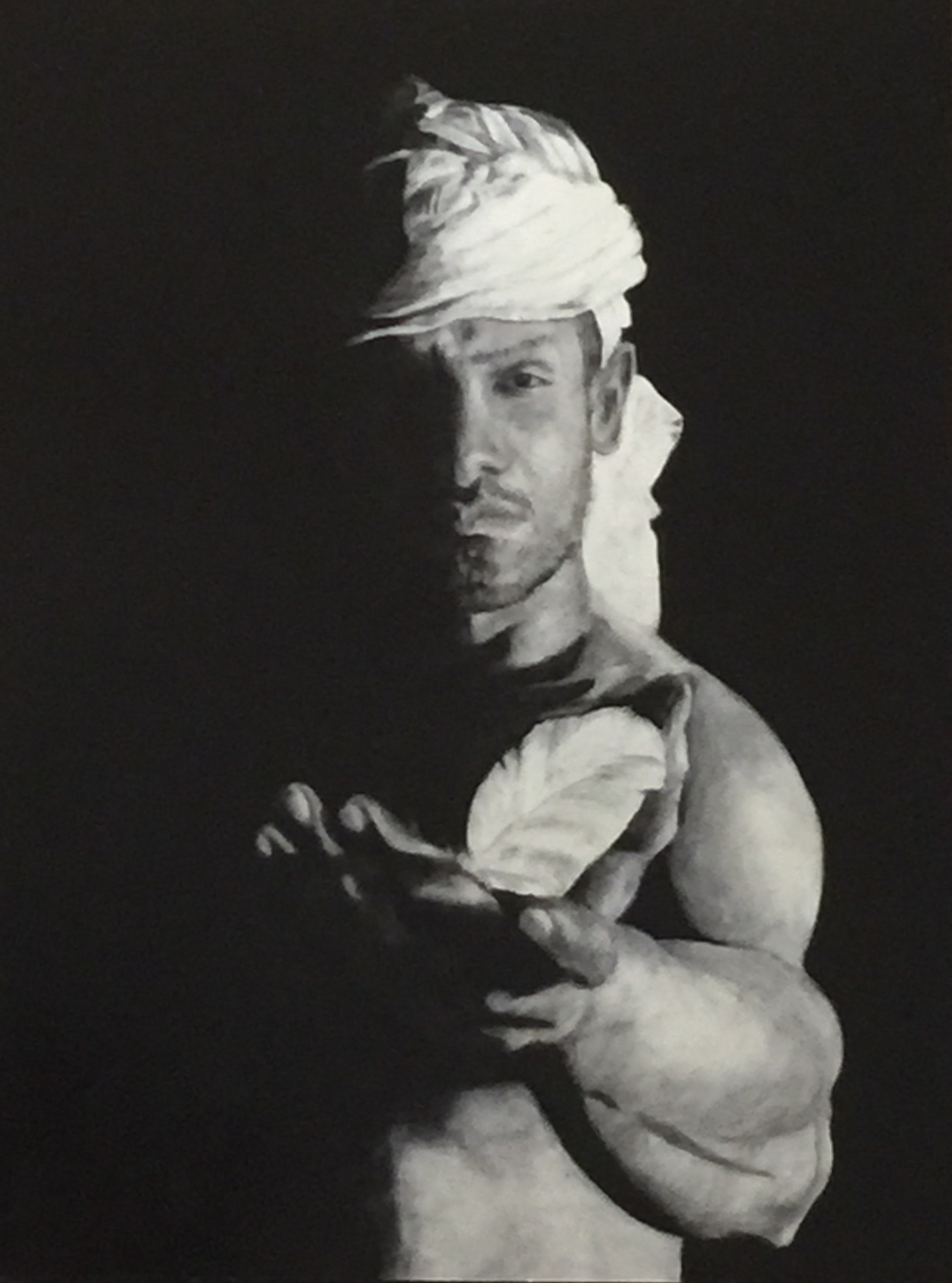 """Fragility"", oil on woodboard, 23"" x 18"", 2016."