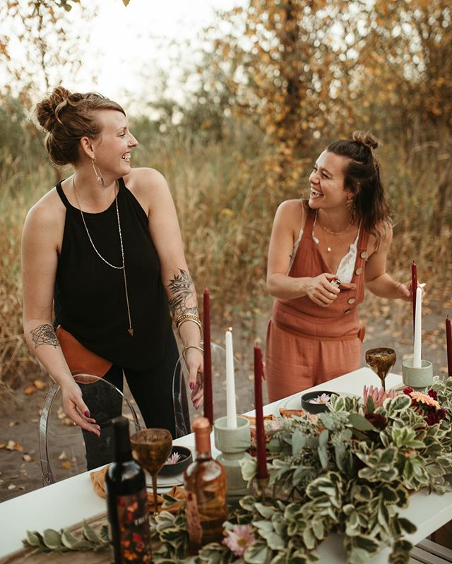 Go find a partner in business that looks at you the way that @mcamille_  and I look at each other while lighting candles... there's so much love right here on this little Olive and Rust team. We have so much fun working together and creating beautiful spaces where our guests can connect and we hope that joy rubs off on you when you hire us to design, style and coordinate your event ✨. 📸: @dreiaclarophoto  ________________________________________ #bestteam #partners #oliveandrustco #oliveandrustdesigns #oregonweddings #portlandweddings #wedventure #weddingstylists #weddingcoordination #eventcoordination #eventproduction #styledshoot #fallweather