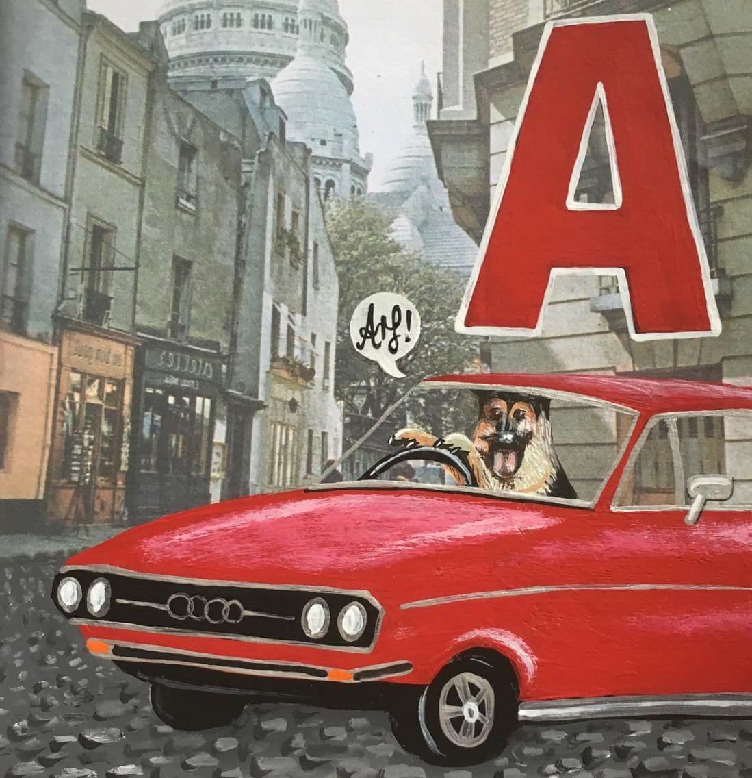 An Alsatian & an Audi