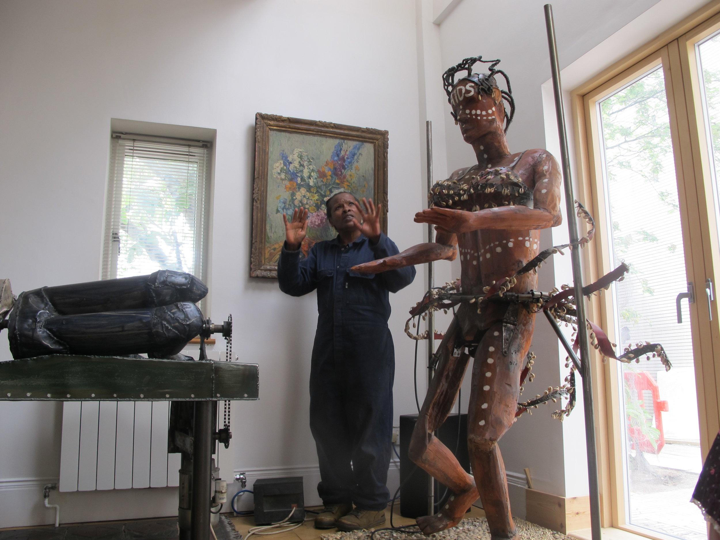 Political sculptor, Sokari Douglas Camp at her South London studio