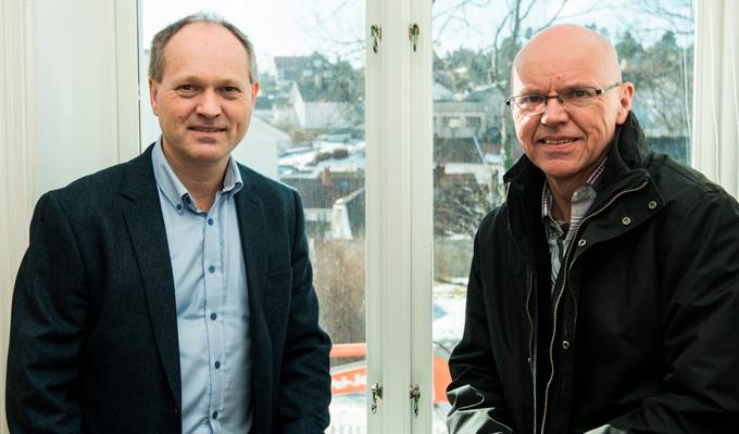 Eirik Lynghaug og Tore Karlstad i Adcvance Business Partner AS. Foto: Tore Myrberg