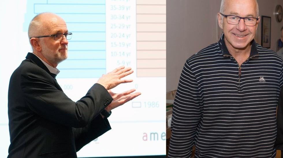 Til venstre leder av Durapart, Øyvind Vedal. Til høyre Thorbjørn Claussen, daglig leder i ProFlex. (Foto: Durapart/Agderposten)