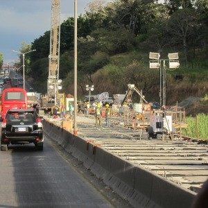 New bridge under construction, near San José, Costa Rica.