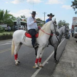 Costa Rican sabanero (cowboys) in Monterrey, Alajuela province.