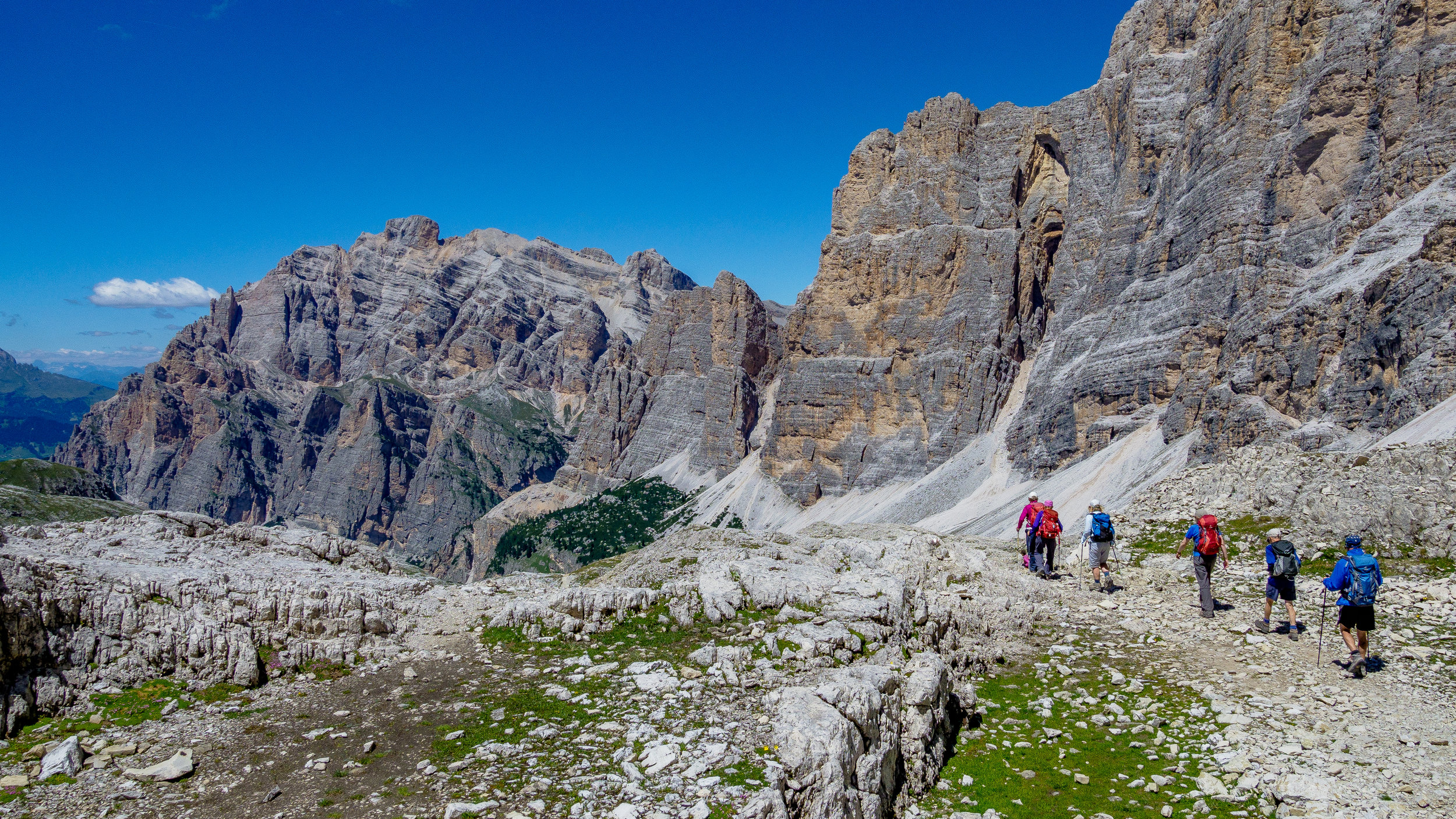 The Dolomites - The Dolomites striking pillared scenery remains unequalled anywhere else in the world.Walking Grade: Grade 6 & Grade 7