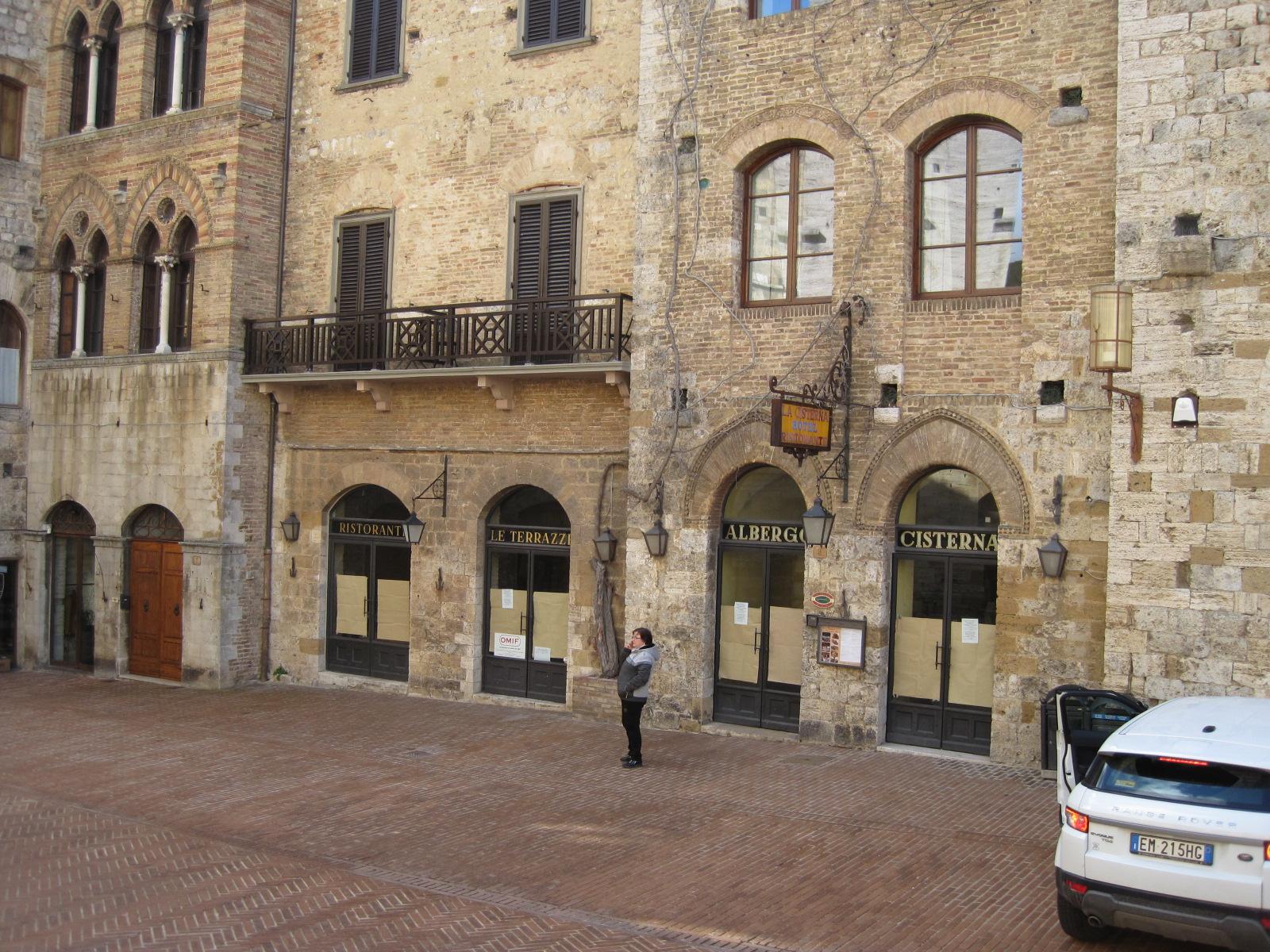 Albergo La Cisterna in the main square in San Gimignano. A great location. (A D Kay)