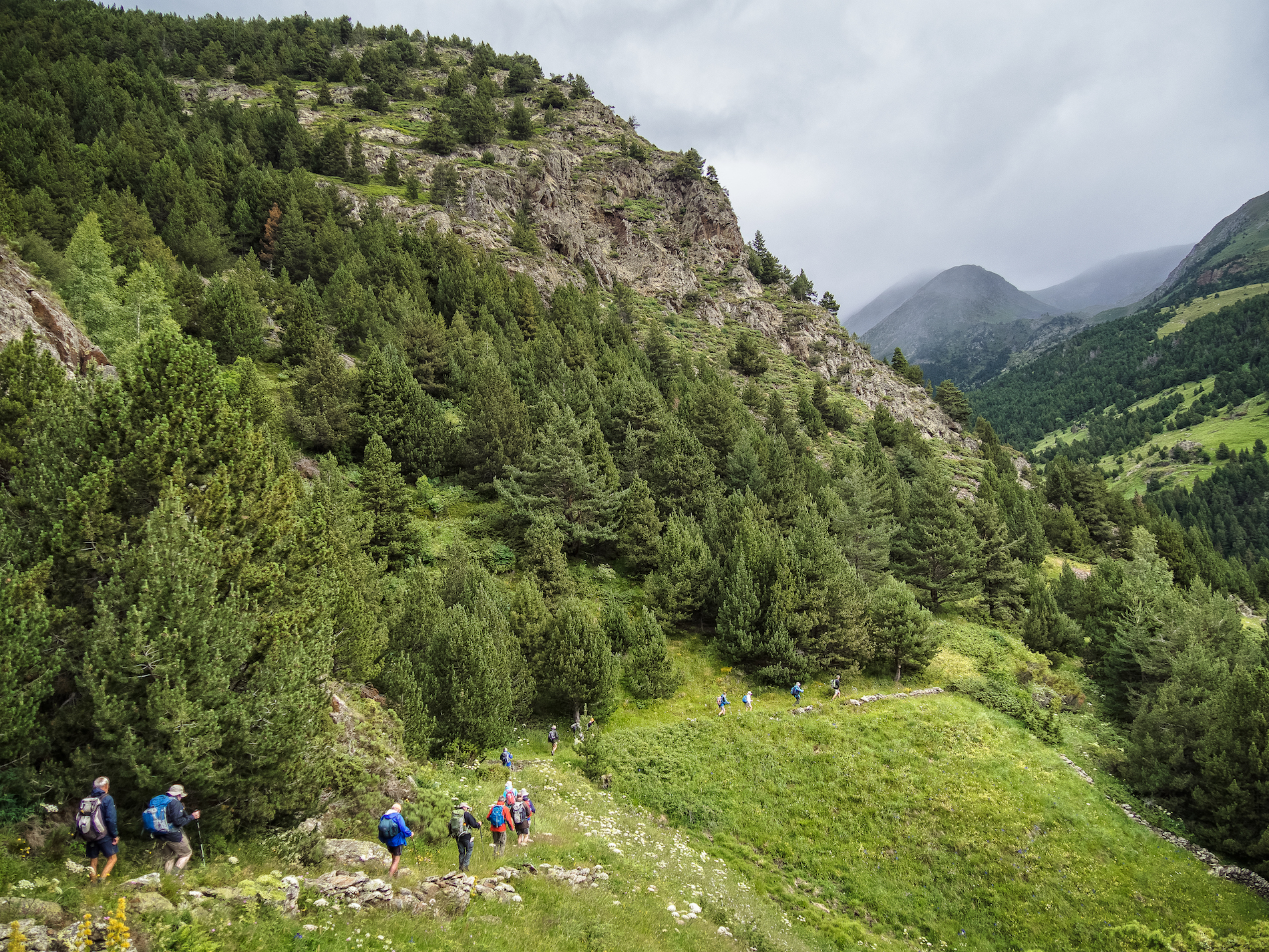 Andorra - Wedged in between France and Spain, Andorra offers some of the best ski slopes in the Pyrenees. But once the snow melts, there's outstanding walking, ranging from easy strolls to demanding day hikes, to be found.