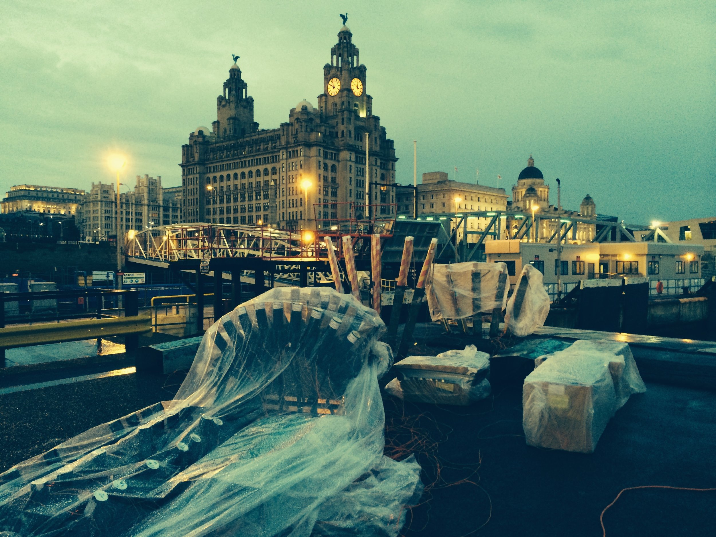 Local Authorities - Liverpool Fireworks Fired From a pontoon