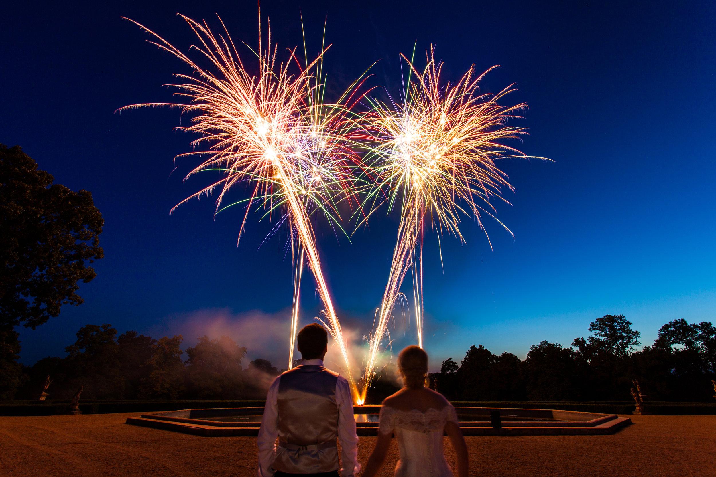 Fireworks for Wedding Reception.