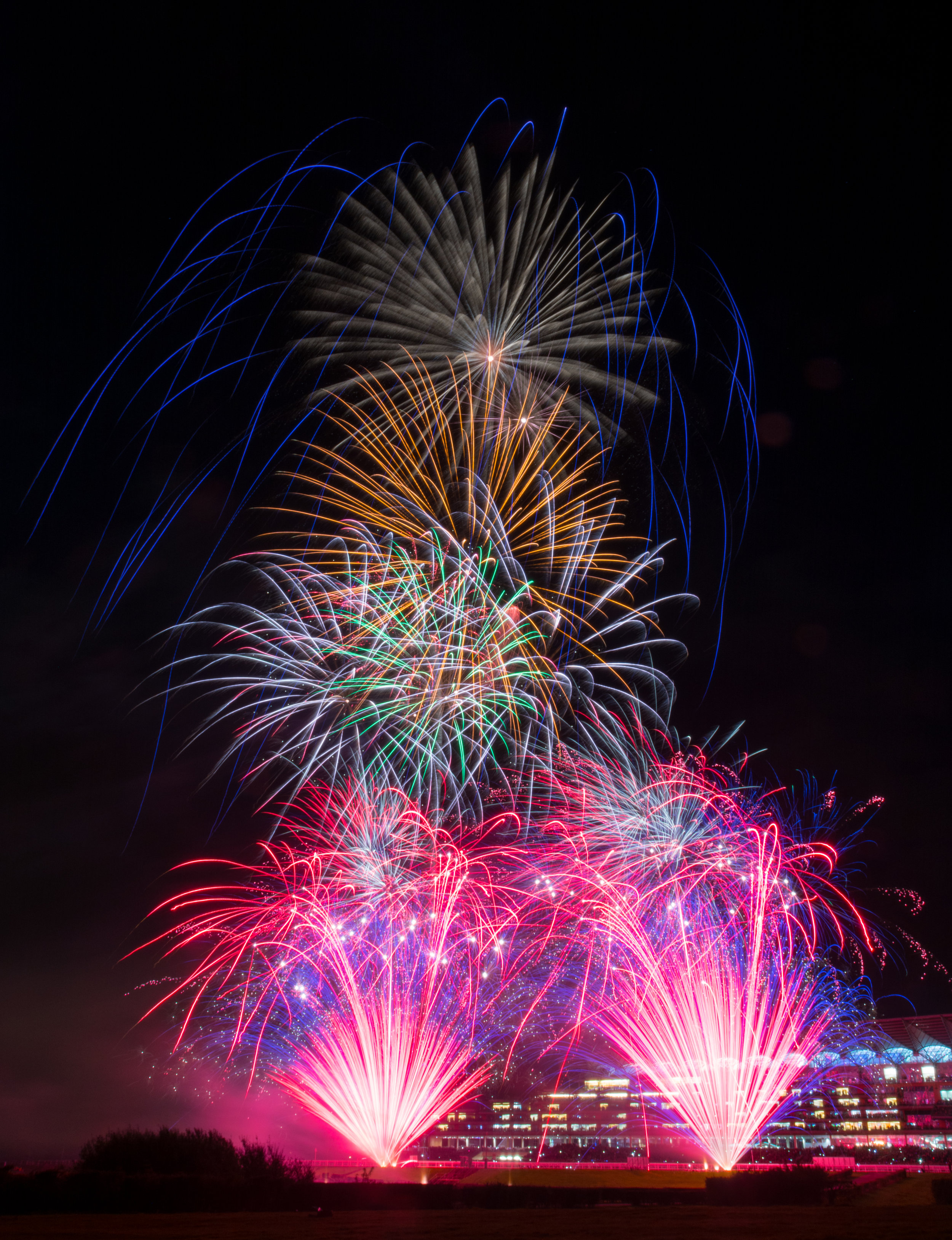 Guy Fawkes display at Ascot Racetrack Berkshire. Photograph courtesy of Andy Hubble