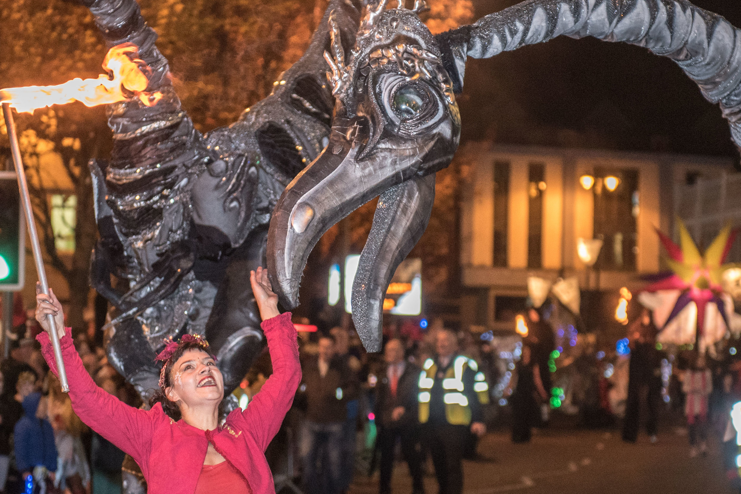 No fee for reproductionThe Hallowe'en Carnival in Derry-Londonderry which this year celebrates it's 30th anniversary and has entertained and entrapped tens of thousands of people over the last four days. Picture Martin McKeown. Inpresspics.com. 31.10.16