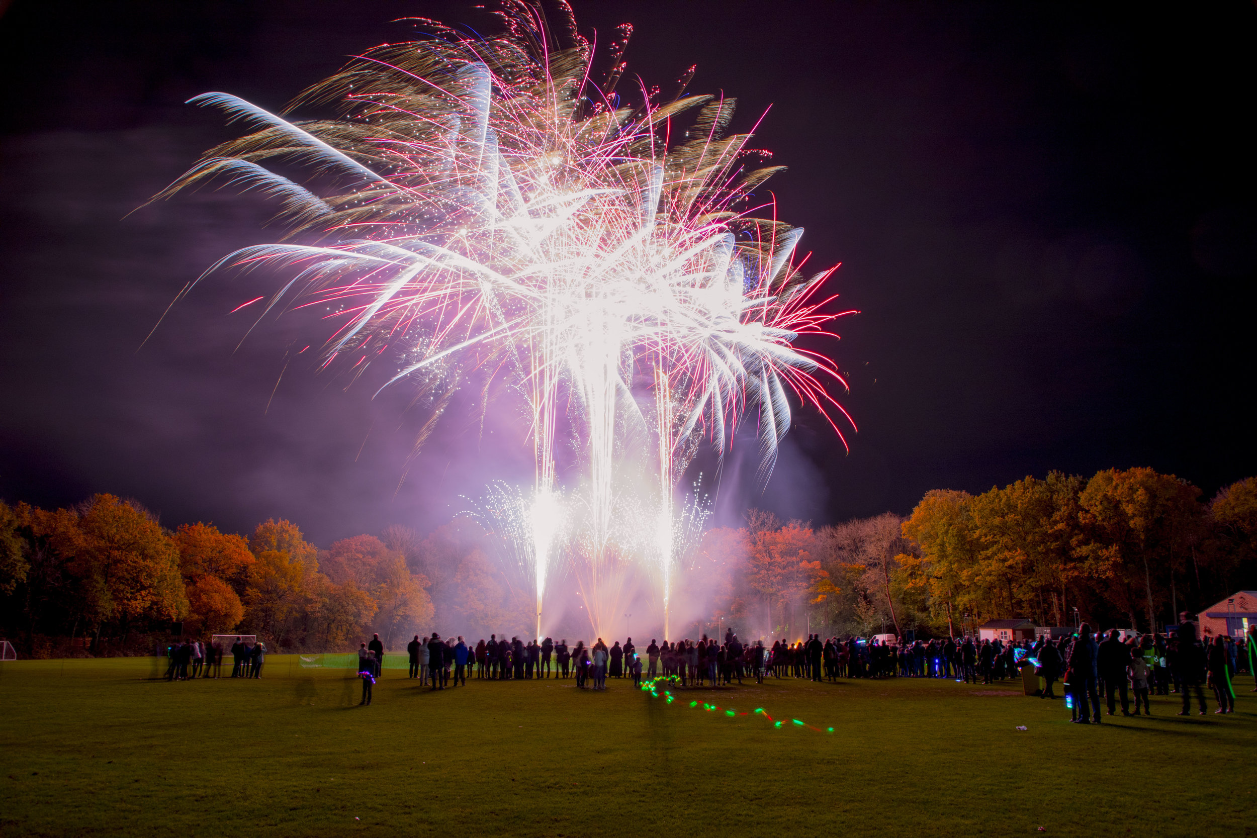 A typical school firework display by Star Fireworks