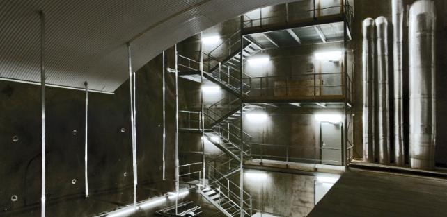 Kjellern i Riskarkivet der granatsaken oppbevares – foto: Arkitektene Astrup og Hellern