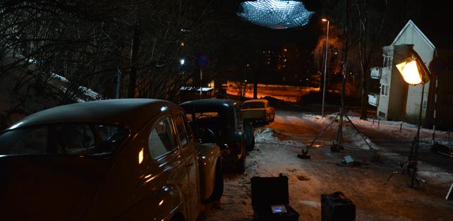 Fra testopptak av gata der Granatmannen la ut sin 2. felle den 5. februar 1965 – digg lyssettning!