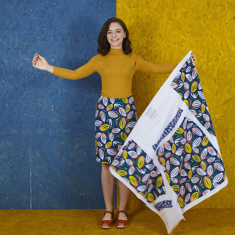 Flat pack cut & sew skirts