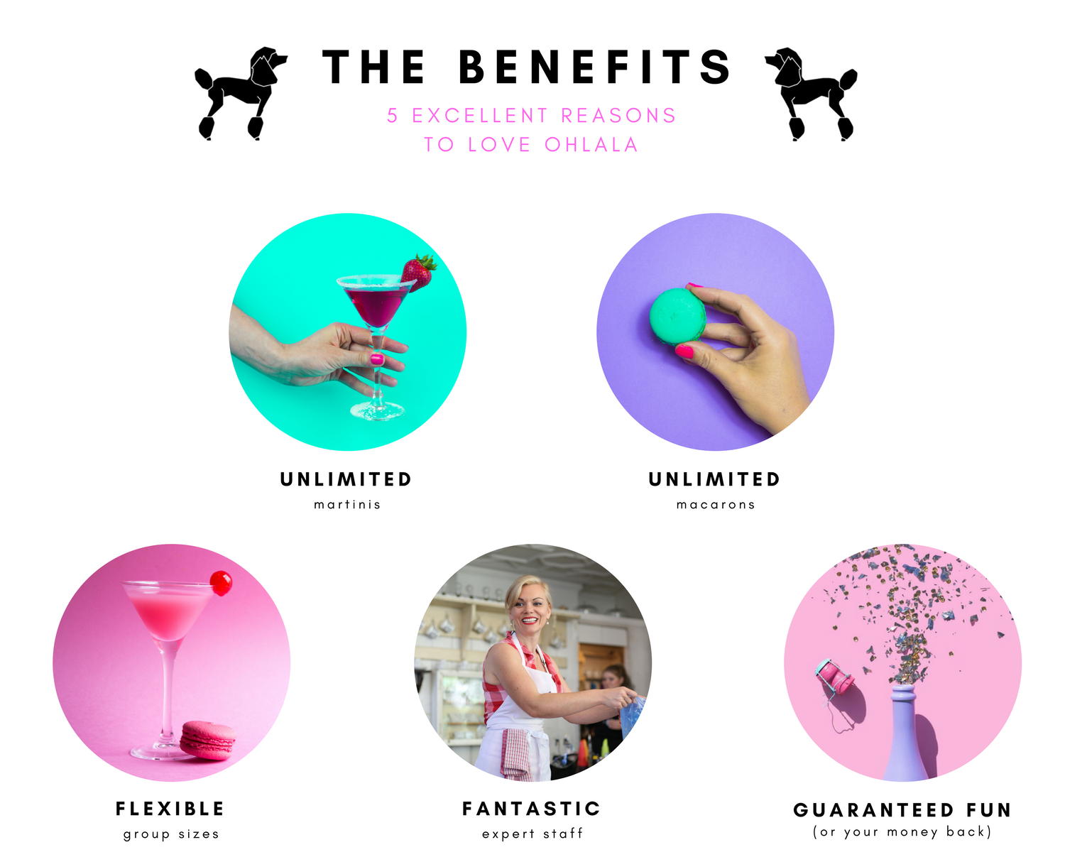 5 reasons to love Ohlala martini and macaron hen parties - london