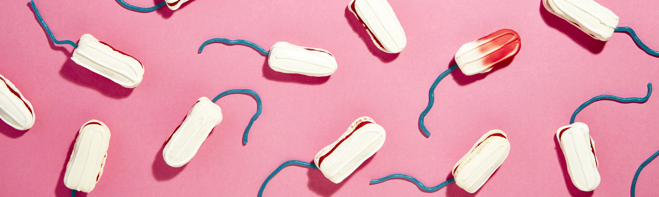 Ohlala makes the world's first bespoke Bloody Good Period tampon macarons