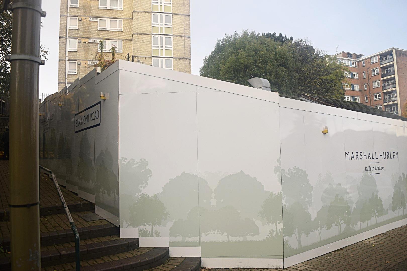 Site Hoarding Panels Printed