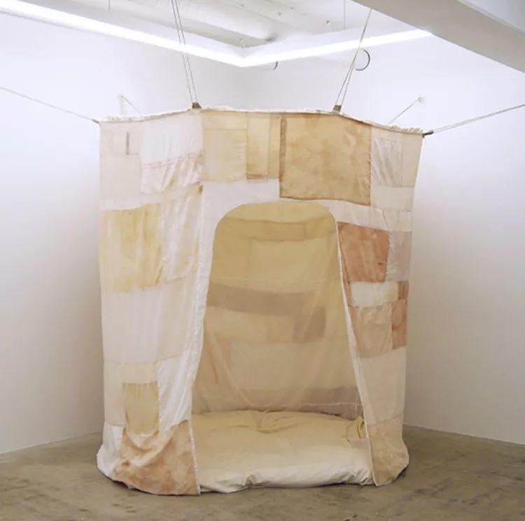 Textile installation by Johanna Tagada