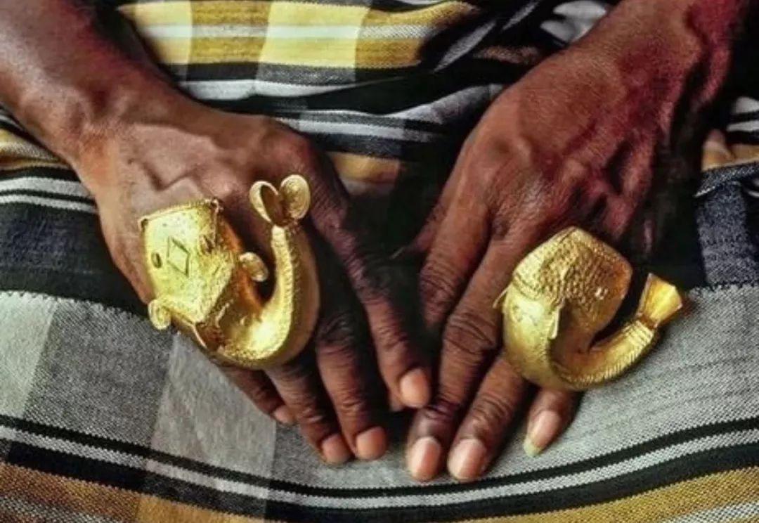 Ashanti gold jewellery from Ghana