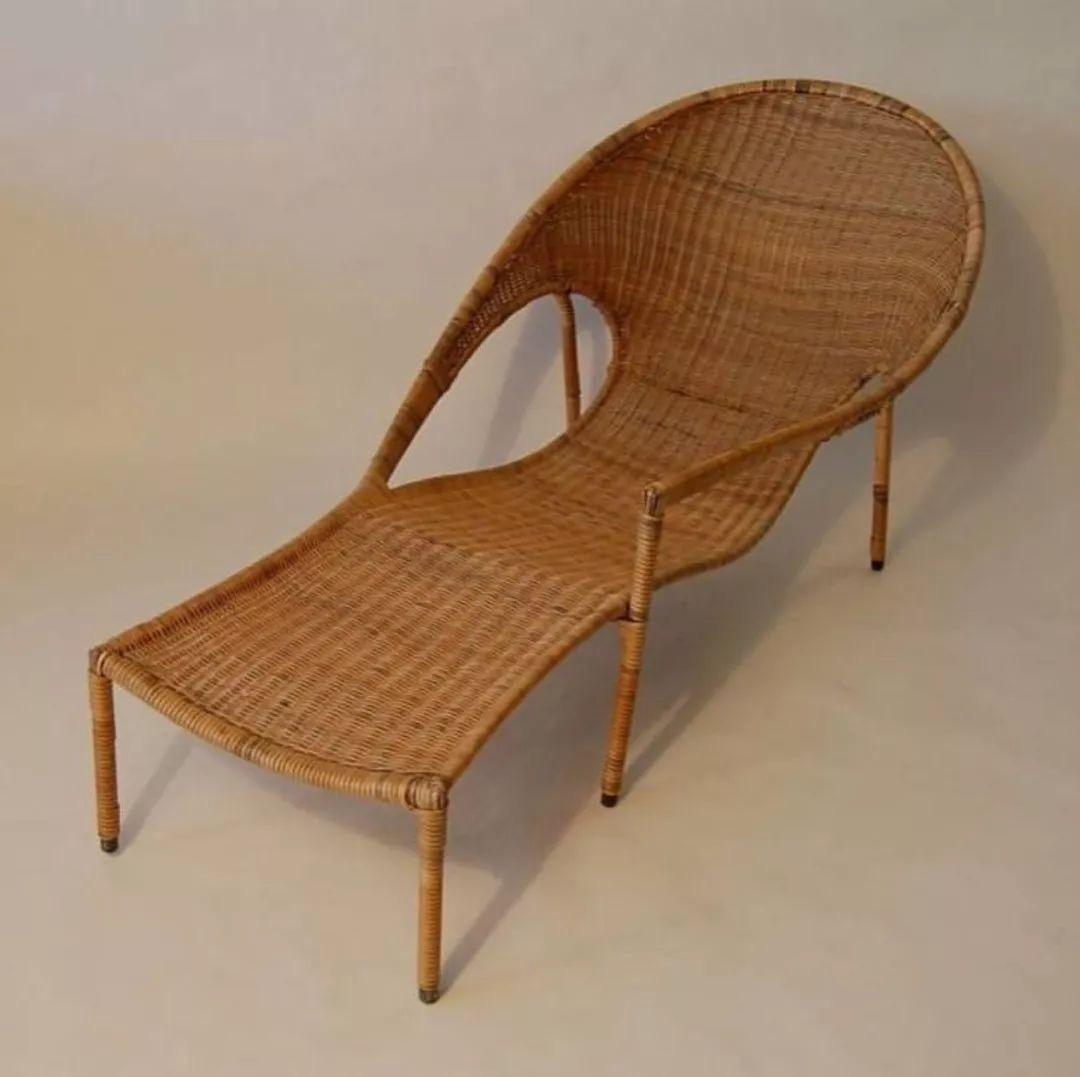 Rattan lounge chair, Francis Mair, 1950