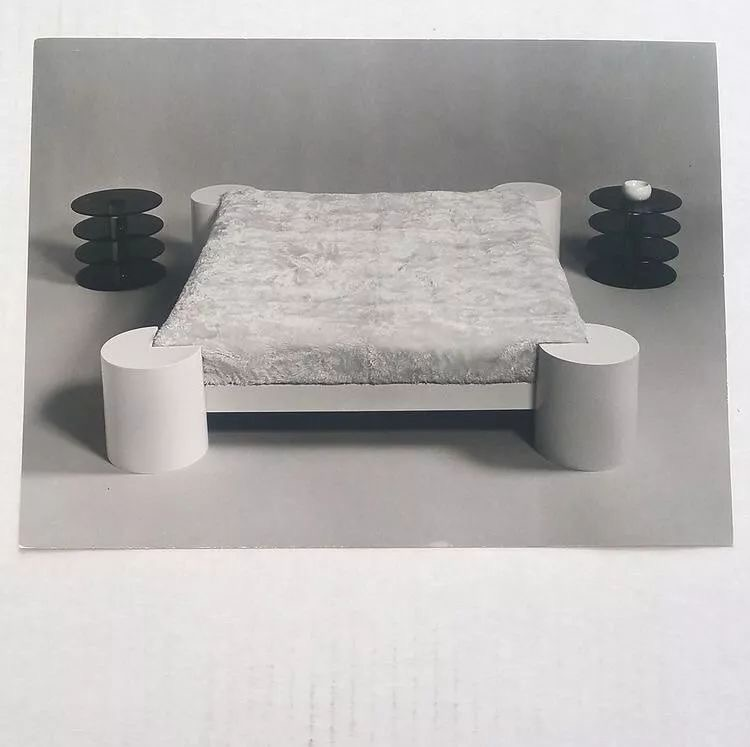Poltronova Brass Bed and tables by Massimo and Lela Vignelli, 1971