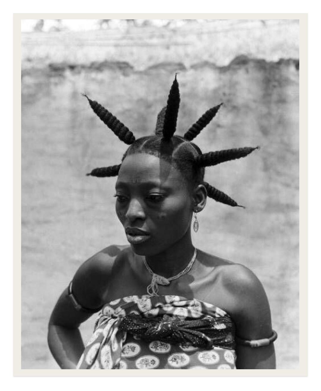 Fon woman in Benin,1950-1953  Photography by Michel Huet / Gamma-Rapho
