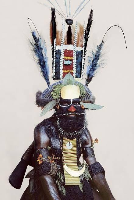 "Kauil tribesman, Laiagam village, Western Highlands ""Man As Art"" series by Malcolm Kirk"