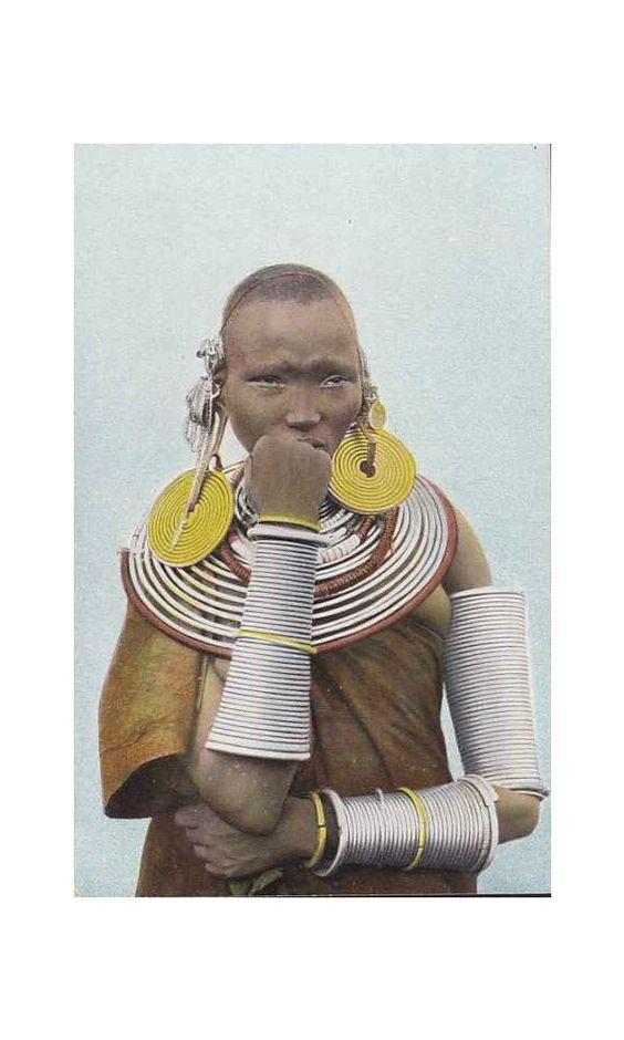 Meru woman, Kenya, 1910