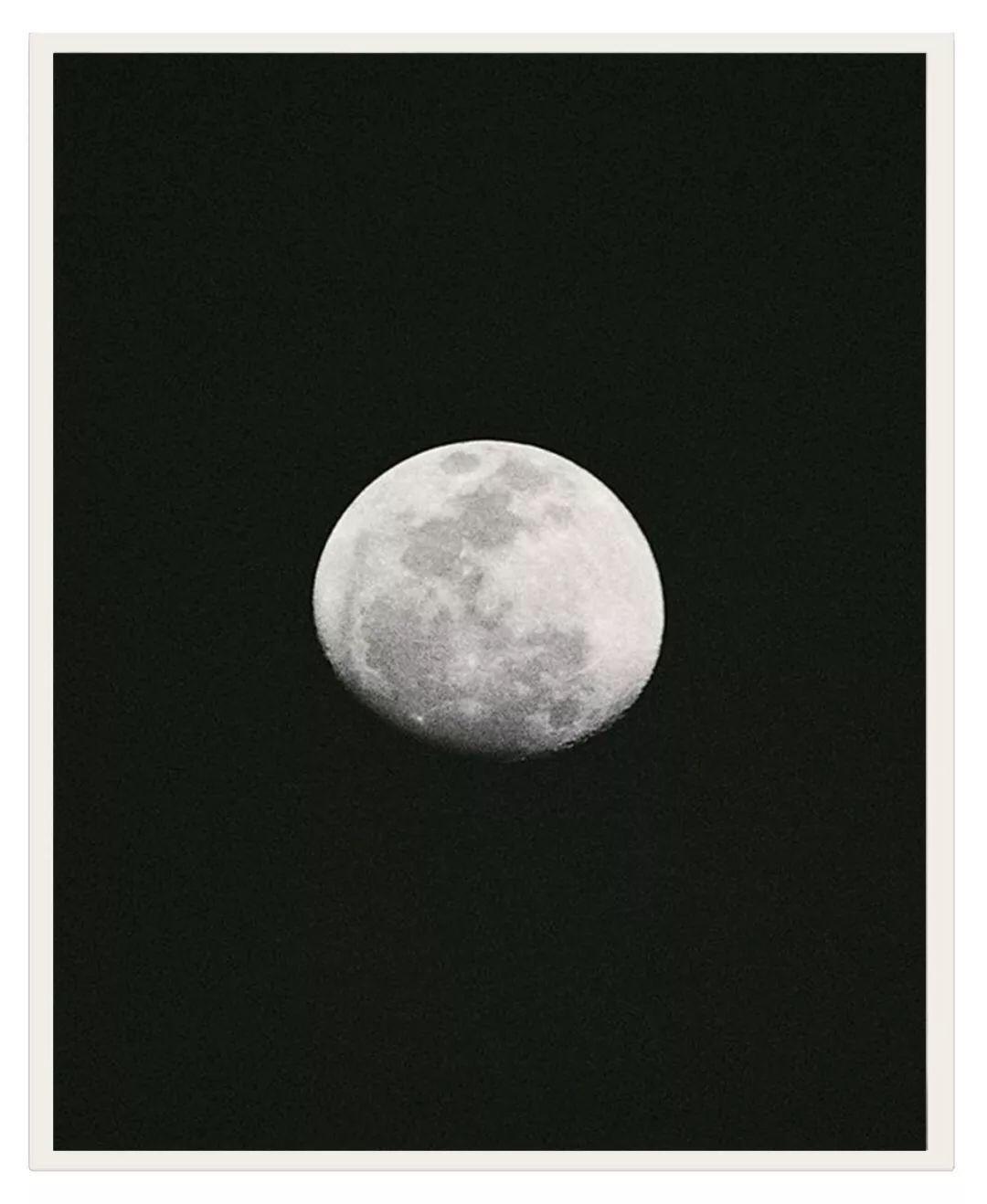 Moon above the Bali sea by Jean Pierrot