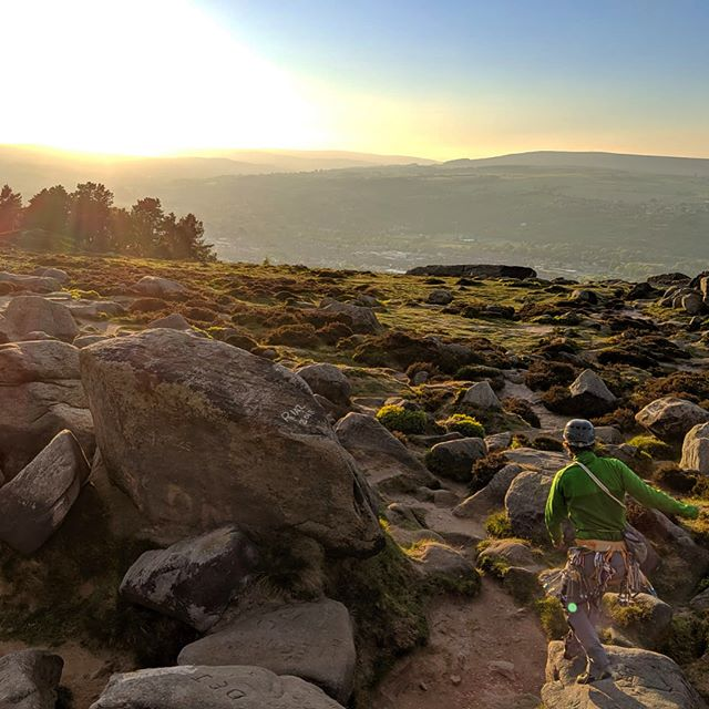 Sunsets dales and fine Yorkshire ales! - Stunning week working for #buckdenhouse and evening crack climbing up Almscliff and Ilkley I do love England's #greenandpleasantland #gritstone #crackclimbing