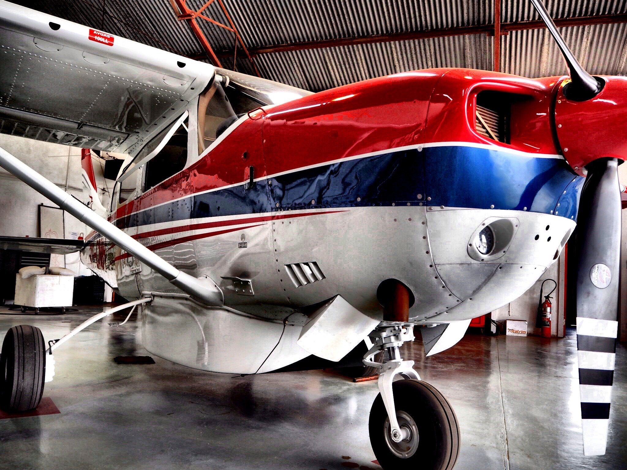 One of the planes at the MAF Lesotho hanger when we visited to do our interview