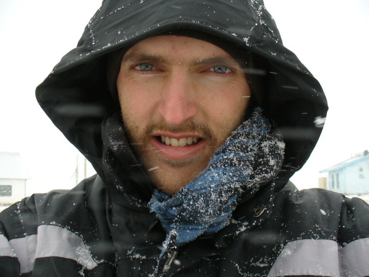 A young me, working on getting though the Lesotho winter!