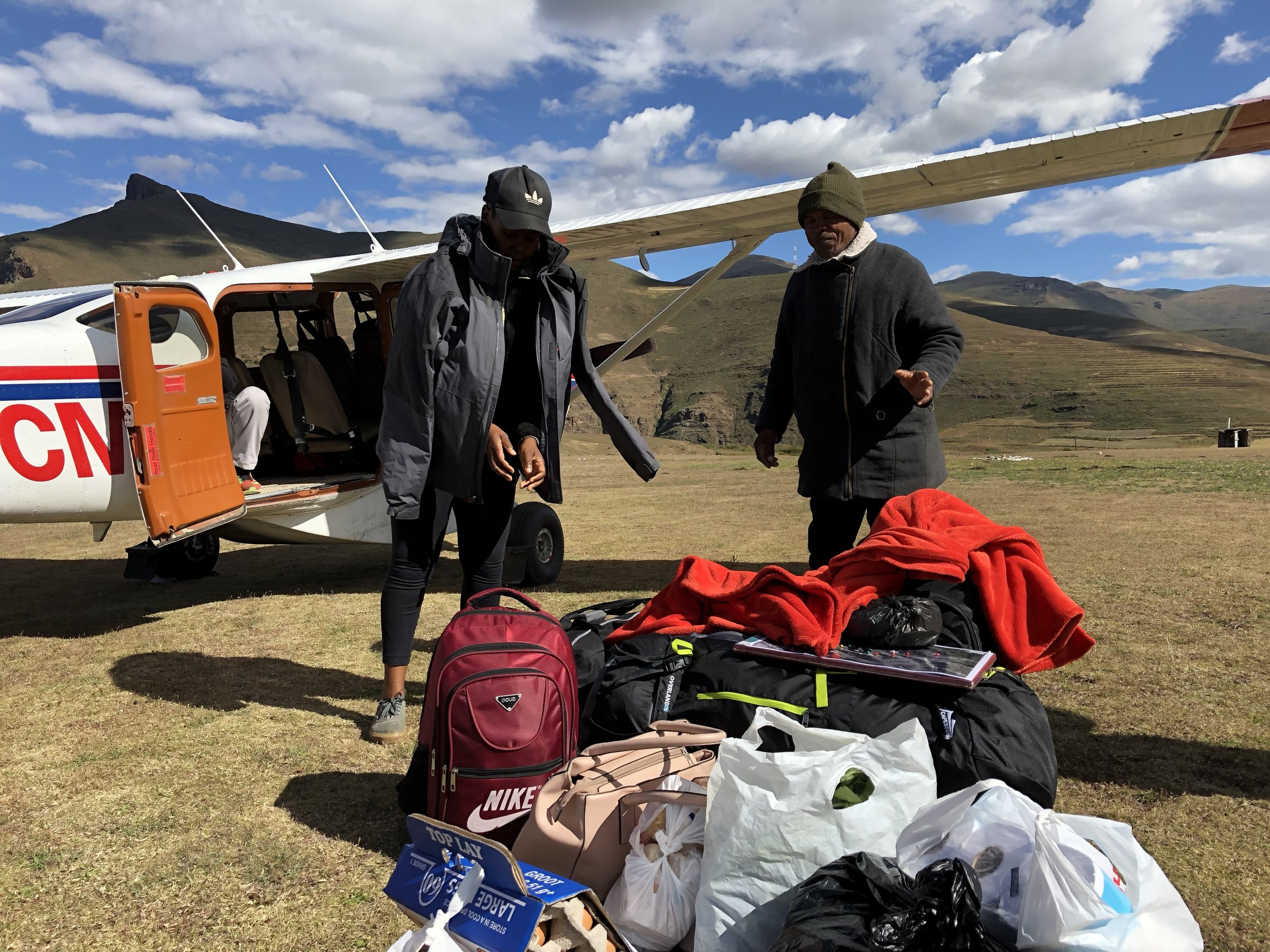The pastors put on their jackets soon after landing!