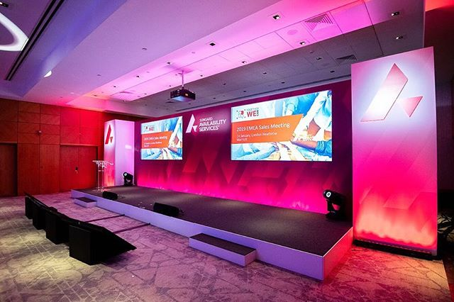 We can provide all aspects of technical production with in-house resources. For this conference we provided lighting, sound, video, staging and set. . . . Get in touch to see how we can help on your next event! . . . #eventprofs #events #lighting #sound #video #staging #design #conference #lightingdesign #production #technicalproduction